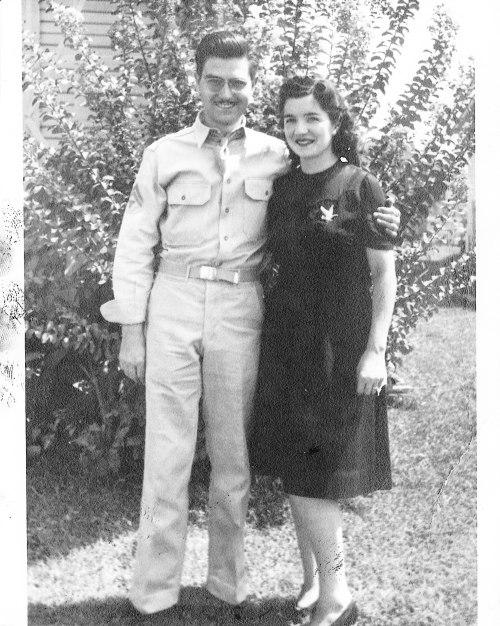 Grandma and Grandpa in the 1940s