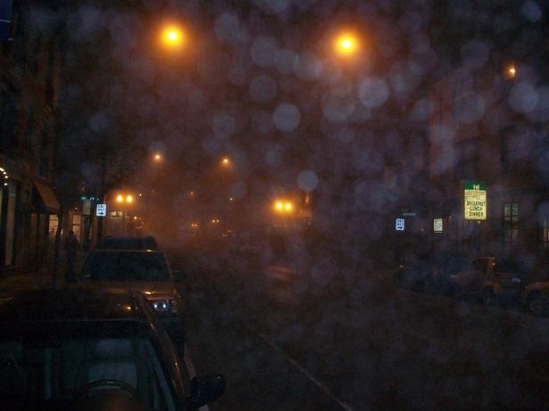 Rainy Chicago night