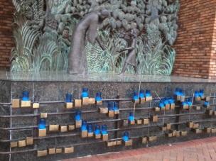 Rosary garden - candles