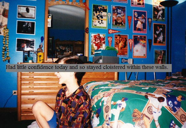 Sitting in my very colorful childhood bedroom in the early 1990s