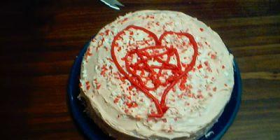 Pentagram Valentine's Day cake