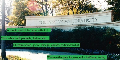 Main gate sign for American University