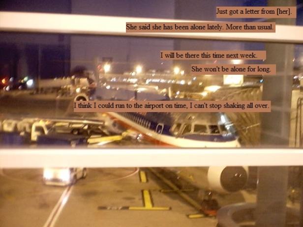 Preparing to board a plane to destinations unknown