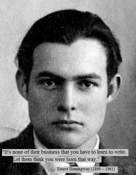 Ernest Hemingway's 1923 passport photo