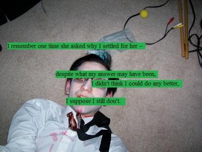 Zombie me dead on the floor