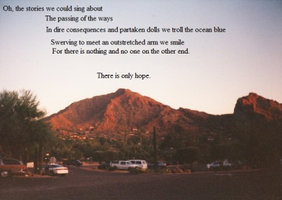 Arizona mountain skyline 1994