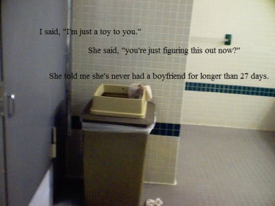Bathroom trashcan at American University