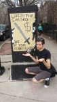 Sign in Wicker Park Chicago live by the sword die by your peanut allergies