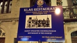 Historic sign outside of Klas