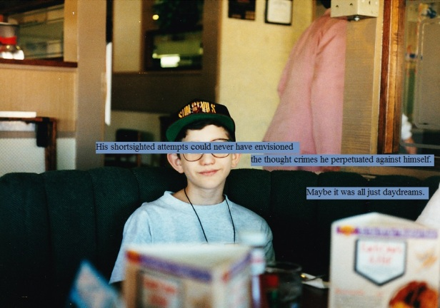 Sitting in a restaurant in the early 90s