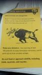 Warning handout at Yellowstone