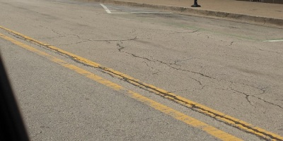 Downers Grove, Illinois road outside the Tivoli