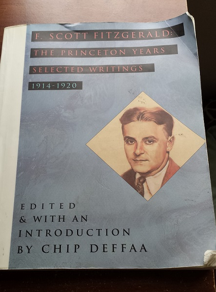 Cover of F Scott Fitzgerald the Princeton years