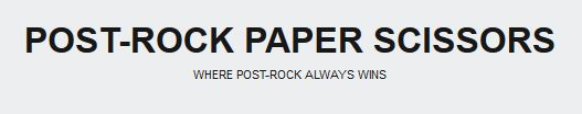 Logo for Post-Rock Paper Scissors