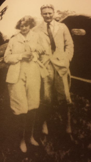 Photo of a photo of F Scott and Zelda Fitzgerald from book F. Scott Fitzgerald The Princeton Years