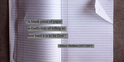 Quote on writing by Sidney Sheldon