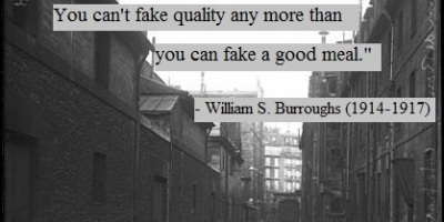 quote from William S. Burroughs on writing