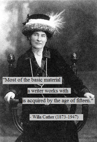Willa Cather photo with quote