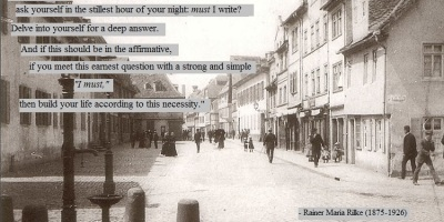 Rainer Maria Rilke quote on writing