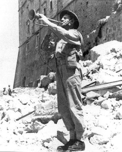 Bugler at Monte Cassino