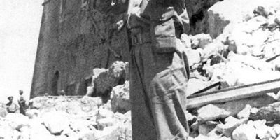 Bugler at Monte Cassino