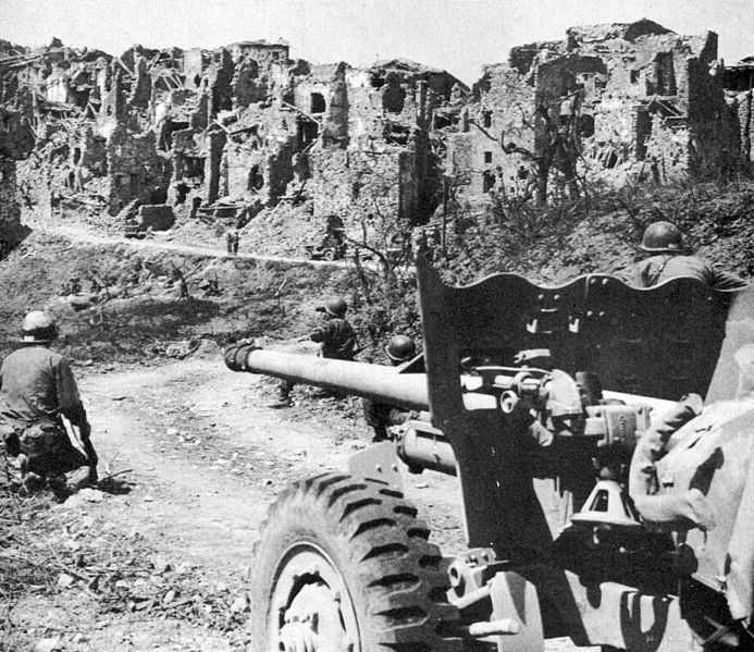 American soldiers near Monte Cassino