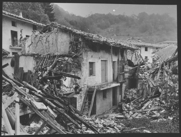 Destroyed buildings in Italy