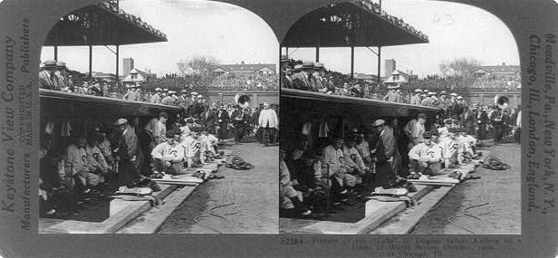 Chicago Cubs Dugout 1929