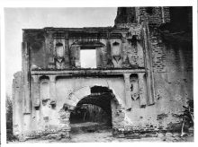 Facade of the ruin of a Mission in Arizona