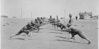 Bayonet practice