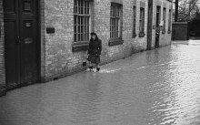 Flooding in black and white