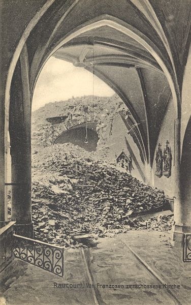 Bombed out French church